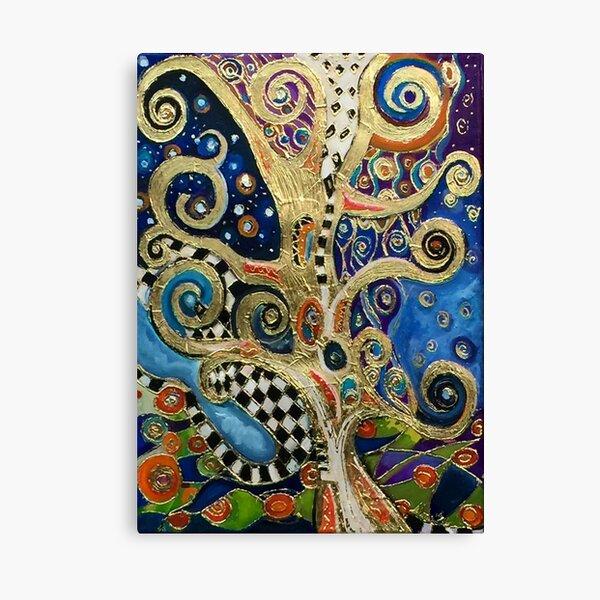 The Changing Seasons of Klimt Canvas Print