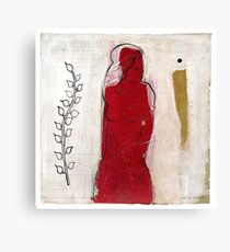 woman in red  Canvas Print