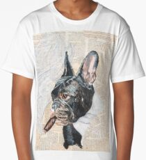 French Bulldog Series - Diesel Smokes Long T-Shirt