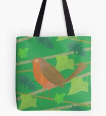 Robin with Holly & Ivy Tote Bag