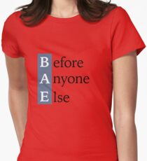 BAE - Before Anyone Else Social Media Acronym Graphic Women's Fitted T-Shirt