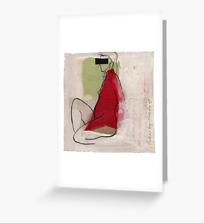 woman profile Greeting Card