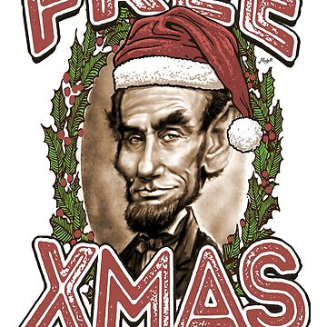 Free Xmas Abe Lincoln Christmas Santa Hat  by MudgeStudios