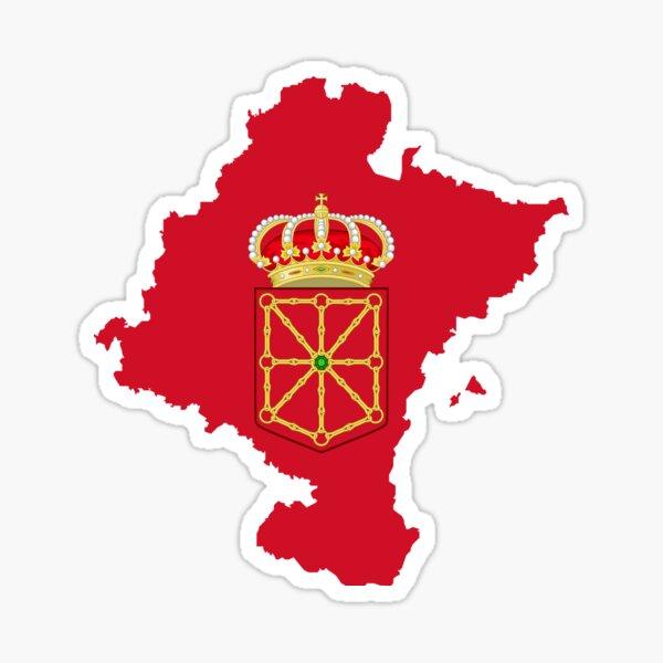Mapa de la bandera de Navarra Pegatina