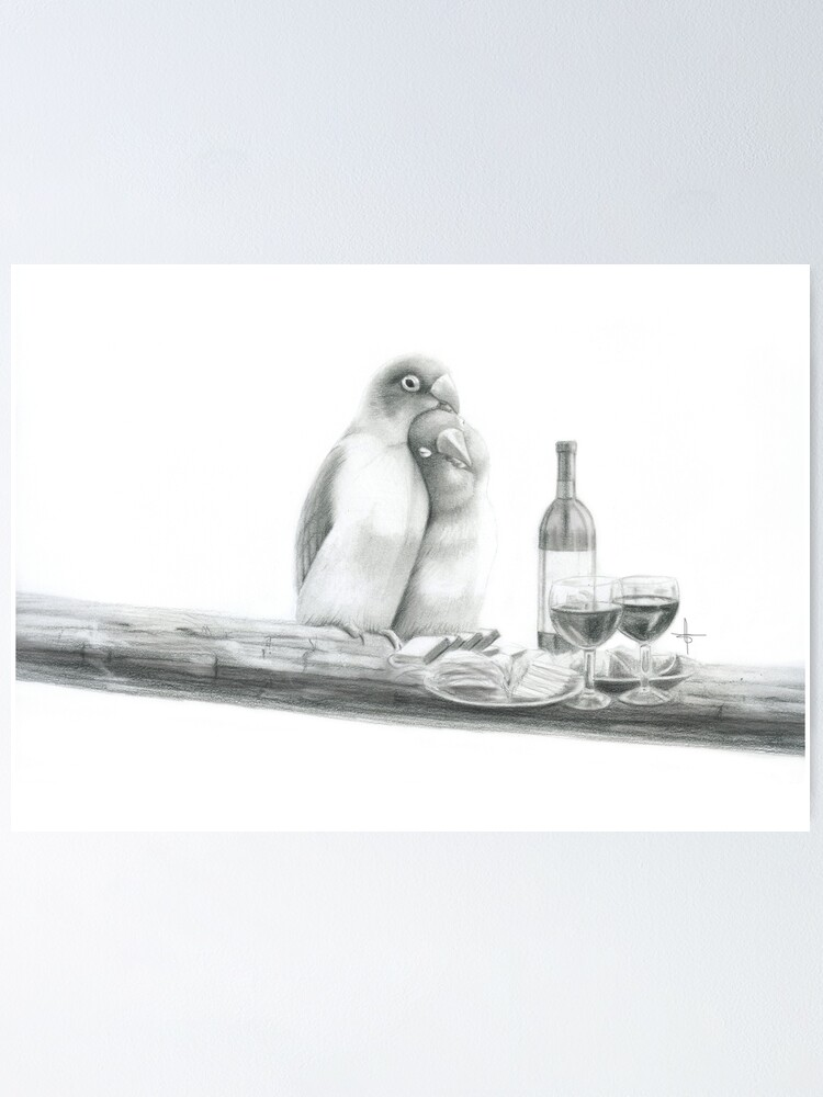 Love Bird Poster By Sharntay Redbubble