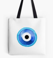 Watercolor Nazar Boncugu II Evil Eye Tote Bag