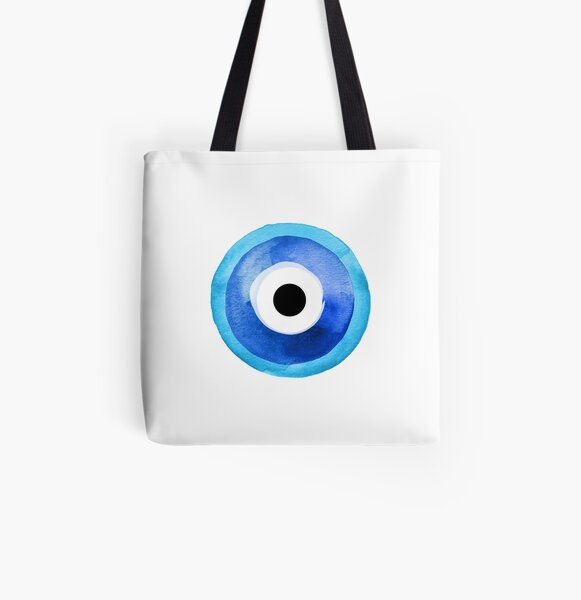 Watercolor Nazar Boncugu II Evil Eye All Over Print Tote Bag