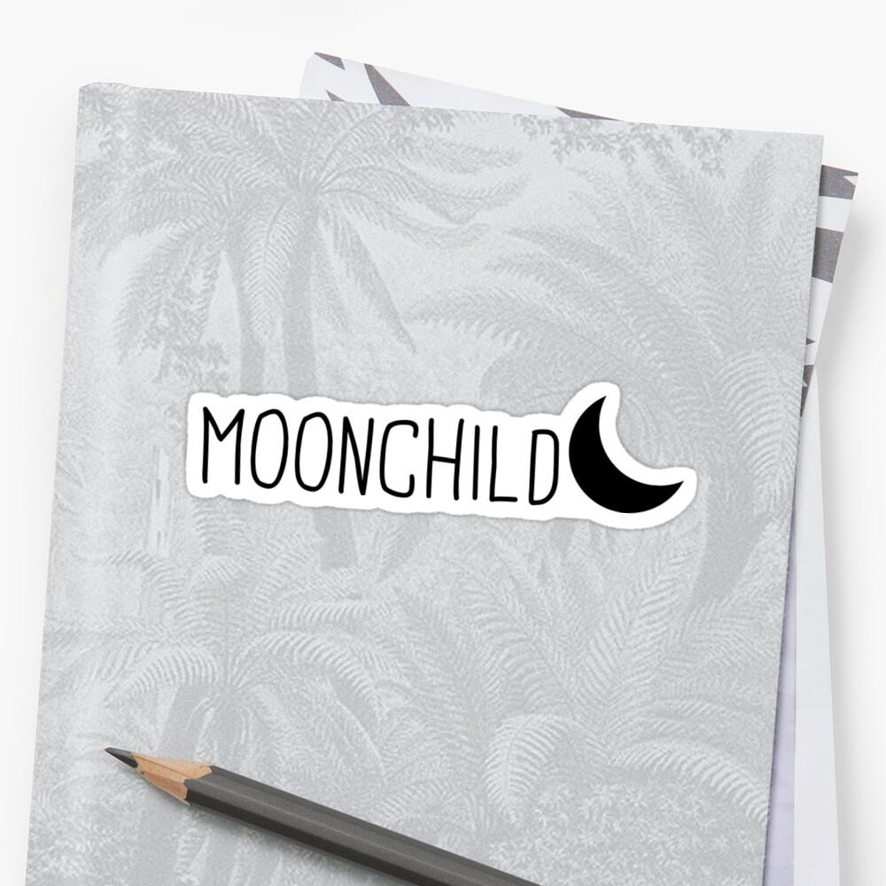 Niño de la luna Pegatinas