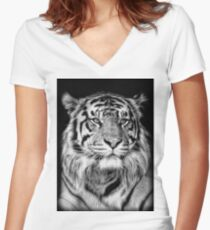 Bengal Tiger Women's Fitted V-Neck T-Shirt