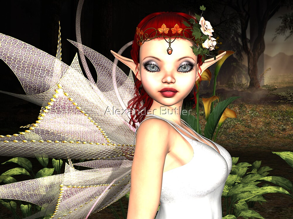 Morning Lily Fairy by Alexander Butler