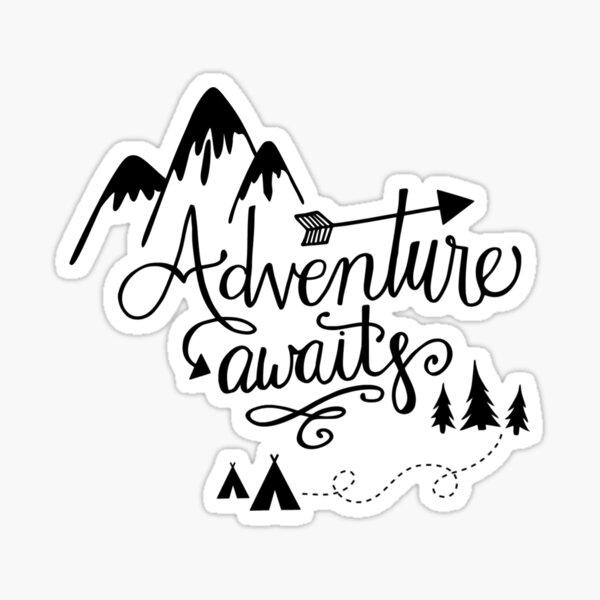 Adventure Awaits Sticker Sticker