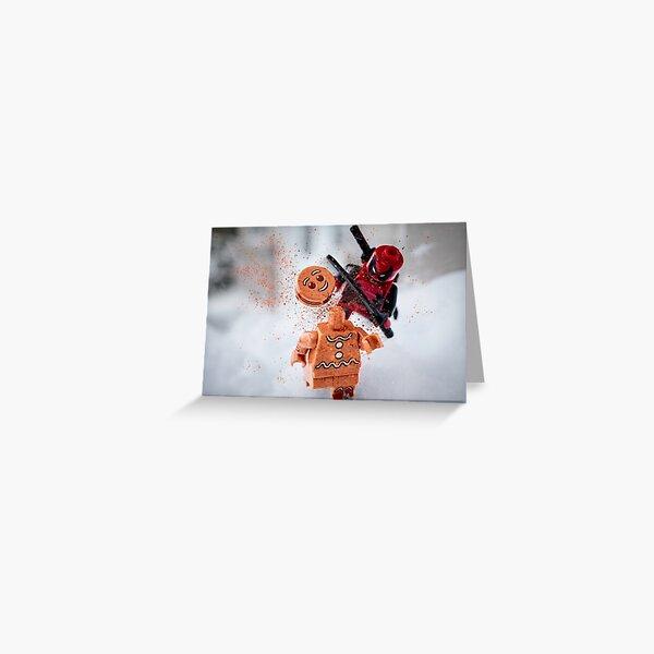 Gingerbread peril Greeting Card