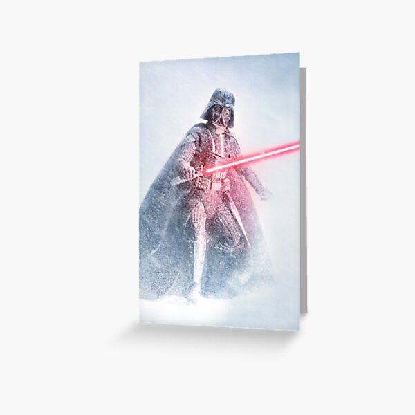 Dark Wizard In The Snow Greeting Card