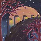 Bridge Over Moonlit Waters by Alyssa Baldino