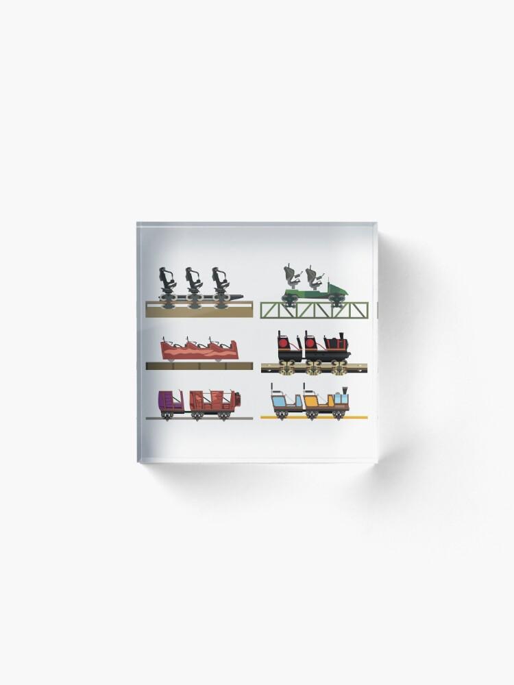 Alternate view of Liseberg Coaster Cars Design Acrylic Block