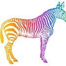 Rainbow Zebra by WadZat