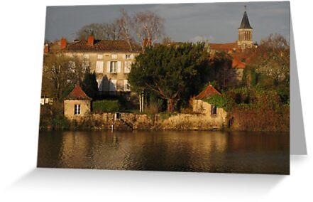 Evening Light on La Vienne by Pamela Jayne Smith