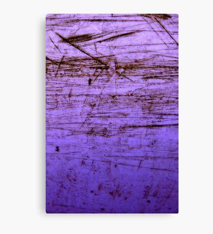 purple plastic canoe Canvas Print