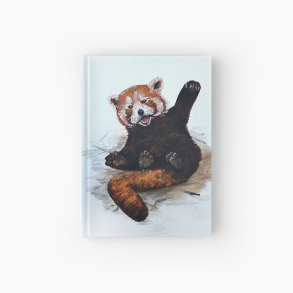 Playful Red Panda Hardcover Journal