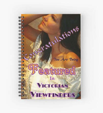 Banner Design-Victorian Viewfinders Spiral Notebook