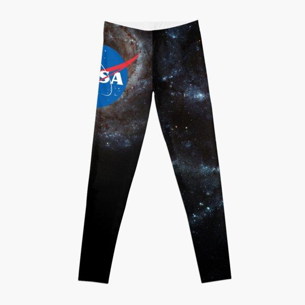 NASA Logo shirt - NASA meatball logo over galaxy background Leggings
