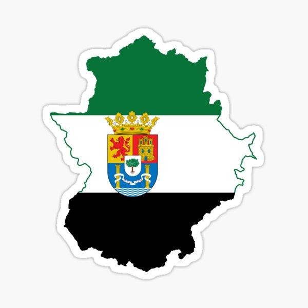 Bandera del mapa de Extremadura Pegatina