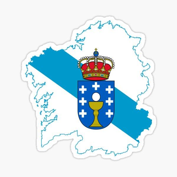 Bandera del mapa de Galicia Pegatina