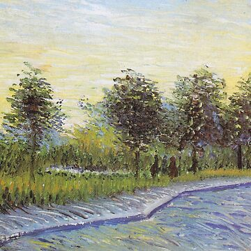 Vincent Van Gogh - Lane In Voyer D'argenson Park At Asnieres by manbird