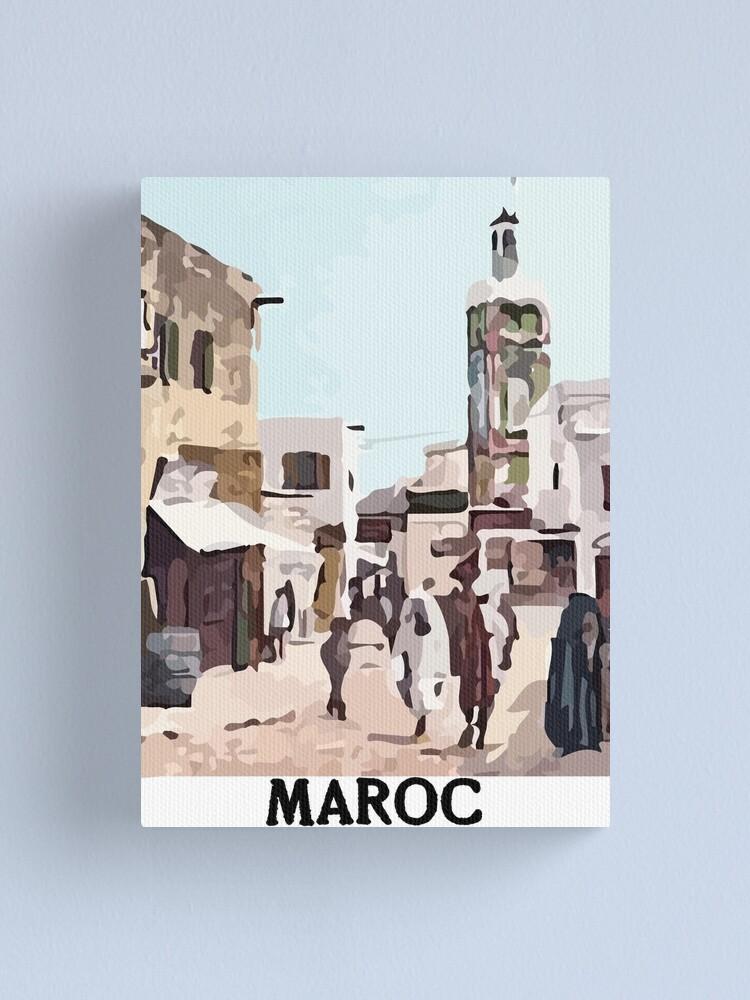 Alternate view of 1900s Travel Postcard Morocco Canvas Print