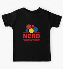 nerd alert black Kids Tee