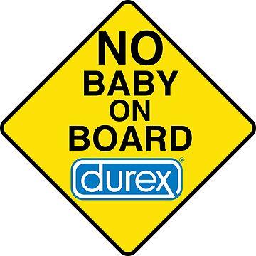 No baby on board - Funny bumper sticker by estudio3e