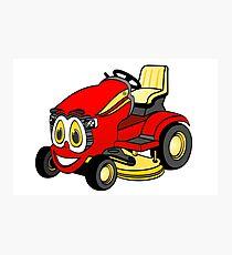 Riding Lawn Mower Cartoon Photographic Print