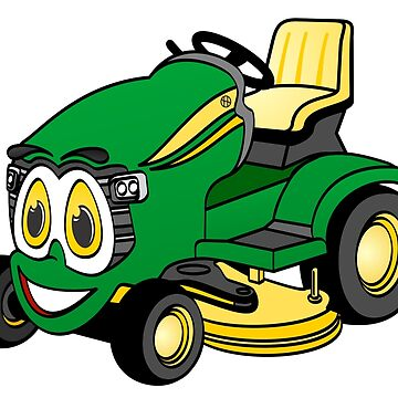 Green Riding Lawn Mower by Graphxpro