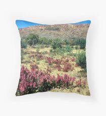 a vast Australia landscape Throw Pillow