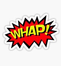 WHAP! Comics Fight Scene Noises Fun T Shirt Sticker