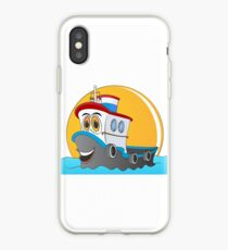 Tug Boat Cartoon iPhone Case
