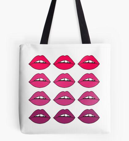 Rosa Ombre-Lippen Tote Bag