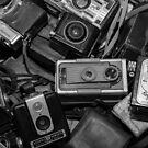 A Mess Of Old Cameras BW by Gypsykiss