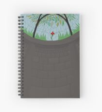 Cathedral of a Flower Spiral Notebook