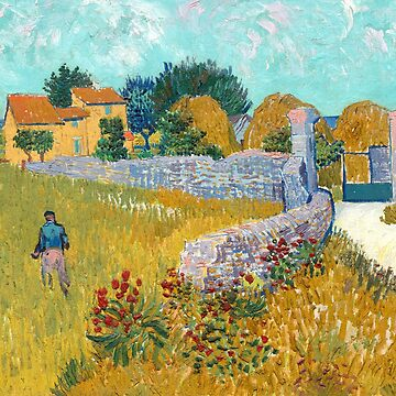 Vincent van Gogh - Farmhouse In Provence by manbird