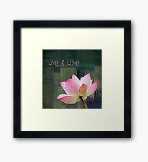 Live n Love - 0333-15a Framed Print
