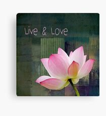 Live n Love - 0333-15a Canvas Print