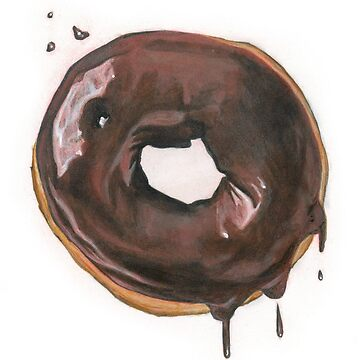 Chocolate Donut by brookedonlanart