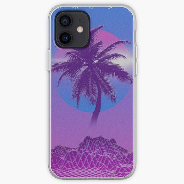 Palm Tree  Vaporwave - Iphone & Galaxy Cases iPhone Soft Case