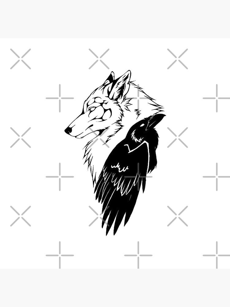 Lobo y cuervo de RagnarokDesigns