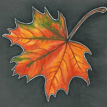 Fall Leaf 2 by brookedonlanart