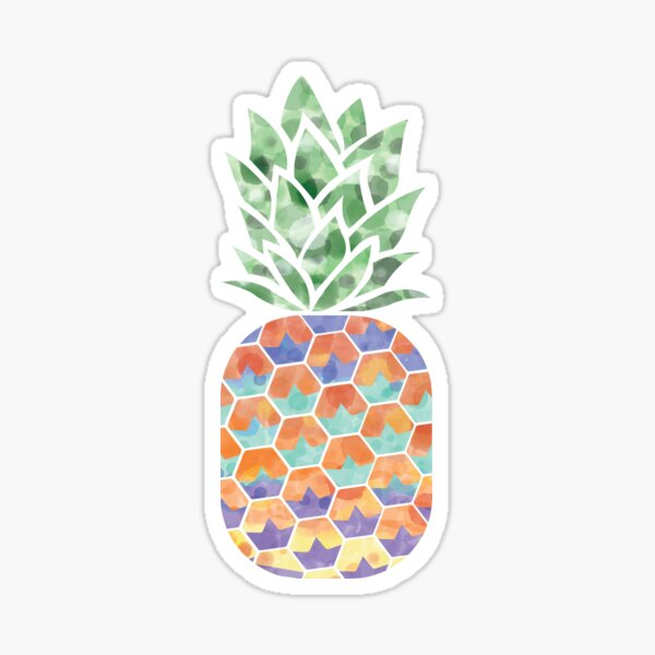 Abstract Pineapple Sticker