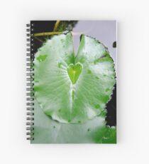 Waterlily Heart Spiral Notebook