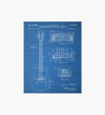 Gibson Guitar Patent - Les Paul Guitar Art - Blueprint Art Board