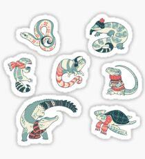 Winter herps Sticker